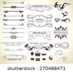 set of calligraphic elements... | Shutterstock .eps vector #270488471