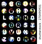 geometric font. creative... | Shutterstock .eps vector #270490931