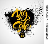 big sale inscription.... | Shutterstock .eps vector #270491081