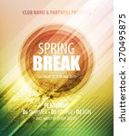 spring break party. template... | Shutterstock .eps vector #270495875