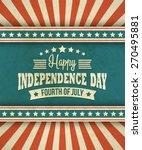 retro typography card... | Shutterstock .eps vector #270495881