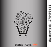 set of icons. put into shopping ... | Shutterstock .eps vector #270499661