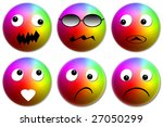 set emoticons  multicolored... | Shutterstock . vector #27050299