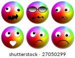 set emoticons  multicolored... | Shutterstock . vector #27050299
