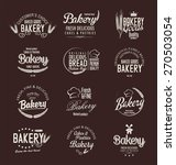 bakery retro labels | Shutterstock .eps vector #270503054
