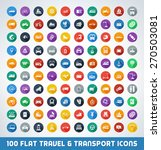 mega travel and transport flat... | Shutterstock .eps vector #270503081