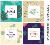 a set of cute design cards for... | Shutterstock .eps vector #270503219
