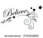 believe with swirls and stars | Shutterstock .eps vector #270503885