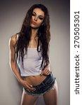 sexy beautiful brunette woman... | Shutterstock . vector #270505301
