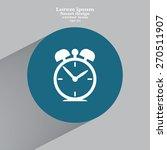 alarm clock vector icon | Shutterstock .eps vector #270511907