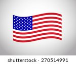 american flag vector. vector... | Shutterstock .eps vector #270514991