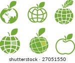 Apple Globe Logo Template