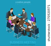 business meeting room team... | Shutterstock .eps vector #270520571