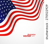 closeup of american flag on... | Shutterstock .eps vector #270522929