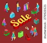 sale shopping consumerism... | Shutterstock .eps vector #270523121