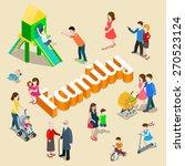 family modern lifestyle flat 3d ...   Shutterstock .eps vector #270523124