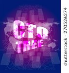 ctq tree word on digital touch... | Shutterstock .eps vector #270526274