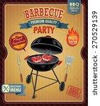 vintage barbecue poster design | Shutterstock .eps vector #270529139