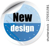 new design modern style blue... | Shutterstock . vector #270531581
