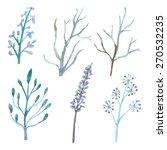 set of flower and branch...   Shutterstock . vector #270532235