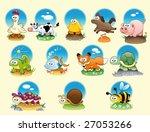 cartoon animals and pets with... | Shutterstock .eps vector #27053266