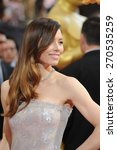 Small photo of LOS ANGELES, CA - MARCH 2, 2014: Jessica Biel at the 86th Annual Academy Awards at the Hollywood & Highland Theatre, Hollywood.