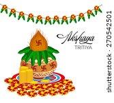 illustration of mangal kalash... | Shutterstock .eps vector #270542501