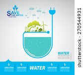 save the water | Shutterstock .eps vector #270544931