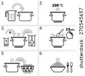 cooking pasta infographics.... | Shutterstock .eps vector #270545657