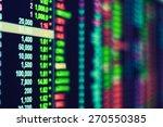 stock exchange ticker board | Shutterstock . vector #270550385