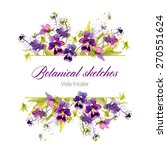 botanical sketch. vector... | Shutterstock .eps vector #270551624