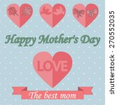 happy mothers's day template | Shutterstock . vector #270552035