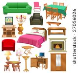 living room furniture | Shutterstock .eps vector #27056026