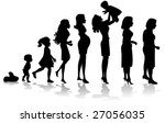 woman stages of development... | Shutterstock .eps vector #27056035