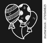 doodle balloon | Shutterstock . vector #270560825