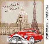 paris retro poster.   Shutterstock .eps vector #270560969