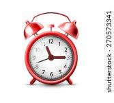 red alarm clock | Shutterstock . vector #270573341
