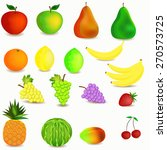 colorful healthy fruit cartoon... | Shutterstock . vector #270573725