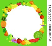 colorful healthy fruit... | Shutterstock . vector #270573761