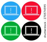 laptop icon | Shutterstock .eps vector #270574595