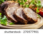 roasted pork neck with spices... | Shutterstock . vector #270577901