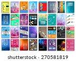 set of flyers  background ... | Shutterstock .eps vector #270581819