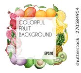 vector colorful square... | Shutterstock .eps vector #270584954