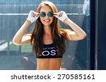 indoor bright fashion summer... | Shutterstock . vector #270585161