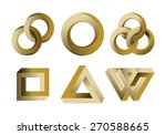 impossibe looped shapes circles ... | Shutterstock .eps vector #270588665