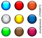 nine multi coloured buttons... | Shutterstock .eps vector #27058972