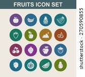 fruit icon set | Shutterstock .eps vector #270590855