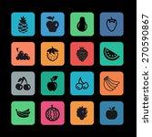fruit icon set | Shutterstock .eps vector #270590867