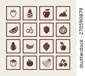 fruit icon set | Shutterstock .eps vector #270590879