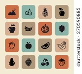fruit icon set | Shutterstock .eps vector #270590885